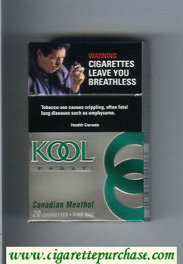 Discount Kool Frost Canadian Menthol cigarettes hard box