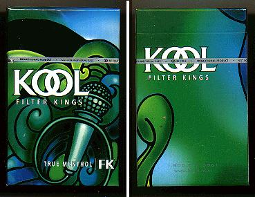 Discount Kool cigarettes Filter Kings True Menthol hard box