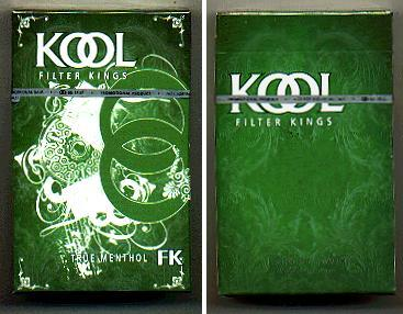 Discount Kool Filter Kings True Menthol hard box cigarettes