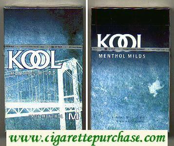 Discount Kool Menthol Milds True Menthol cigarettes hard box