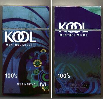 Discount Kool Menthol Milds 100s True Menthol cigarettes hard box