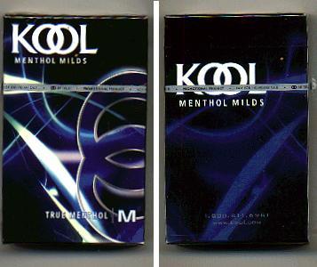 Discount Kool Menthol Milds True Menthol hard box cigarettes