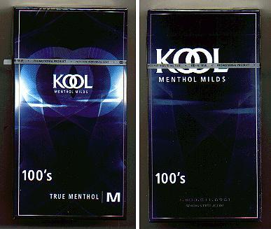 Discount Kool cigarettes Menthol Milds 100s True Menthol hard box