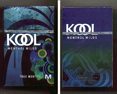Discount Kool Menthol Milds True Menthol M cigarettes hard box