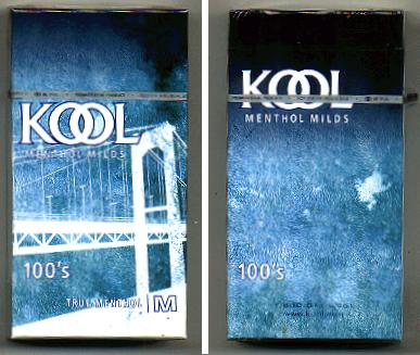 Discount Kool cigarettes Menthol Milds 100s True Menthol M hard box