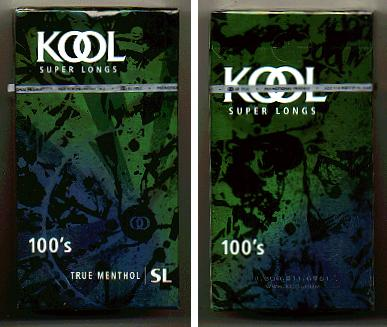 Discount Kool Super Longs 100s True Menthol SL cigarettes hard box