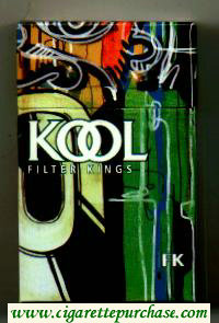 Kool Filter Kings cigarettes hard box