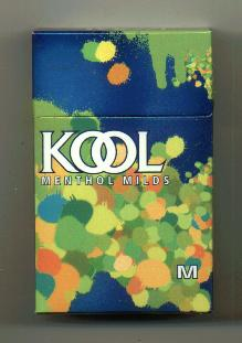 Kool Menthol Milds cigarettes hard box