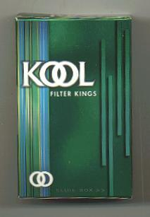 Kool Filter Kings side slide cigarettes hard box