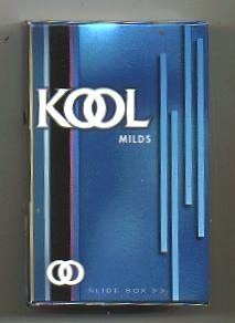 Kool Milds side slide cigarettes hard box