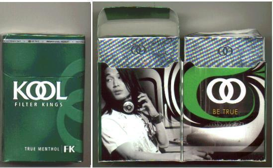 Discount Kool Filter Kings True Menthol cigarettes hard box
