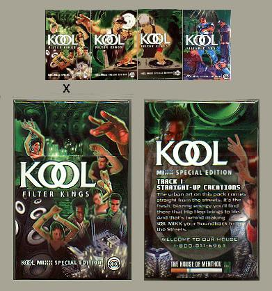 Kool MIXX Filter Kings Special Edition Celebrate the Soundtrack to the Streets cigarettes hard box
