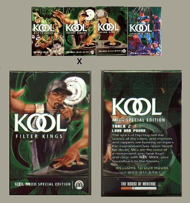 Kool MIXX Filter Kings Special Edition Celebrate the Soundtrack to the Streets hard box cigarettes
