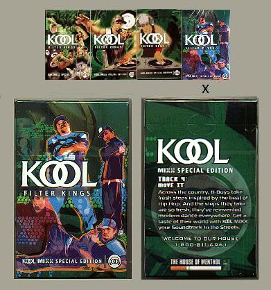 Discount Kool MIXX Filter Kings Special Edition Celebrate the Soundtrack to the Streets cigarettes hard box