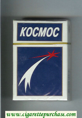 Kosmos T blue and white cigarettes hard box