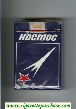 Kosmos T blue cigarettes soft box