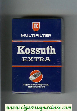 Kossuth Extra Multifilter blue cigarettes hard box