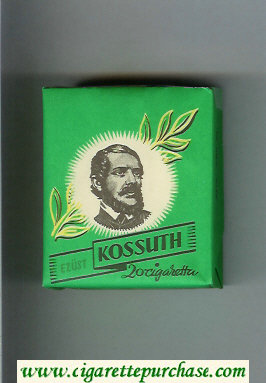 Kossuth Ezust green cigarettes soft box