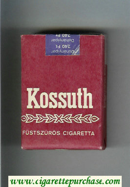 Kossuth brown cigarettes soft box