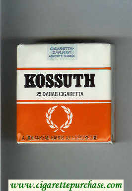 Kossuth 25 Darab cigarettes white and orange soft box