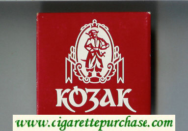 Kozak T cigarettes wide flat hard box