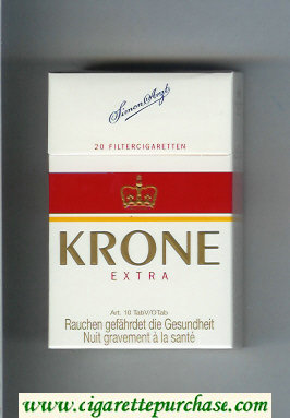 Krone Extra cigarettes hard box