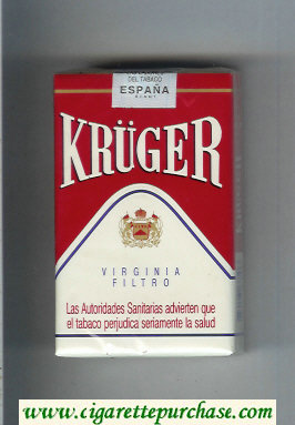 Kruger Virginia Filtro white and red cigarettes soft box