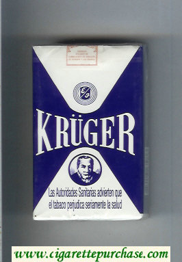 Kruger white and blue cigarettes soft box