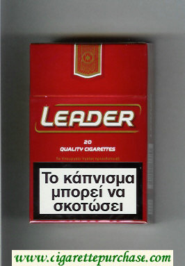 Discount Leader red Cigarettes hard box