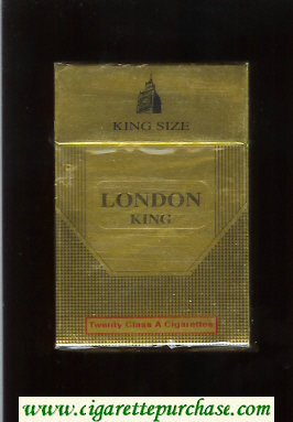 London King Size cigarettes hard box
