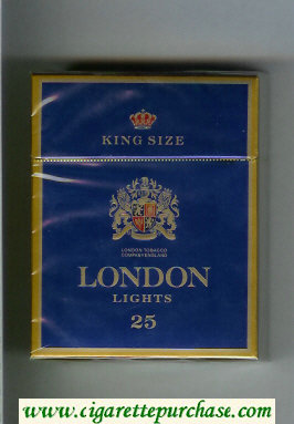 London Lights 25 King Size cigarettes hard box