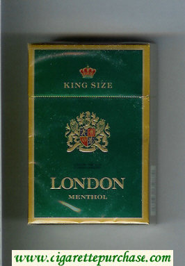 London Menthol King Size cigarettes hard box