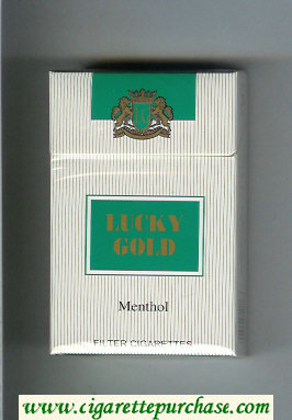 Discount Lucky Gold Menthol Filter Cigarettes hard box