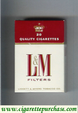 Discount L&M Filters Quality Cigarettes 20 cigarettes hard box