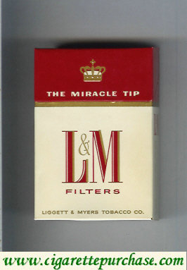 Discount L&M Filters The Miracle Tip cigarettes hard box