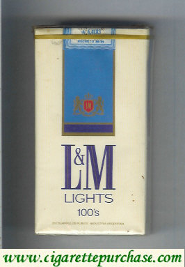 L&M Lights 100s cigarettes soft box
