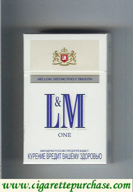L&M Mellow Distinctively Smooth One cigarettes hard box