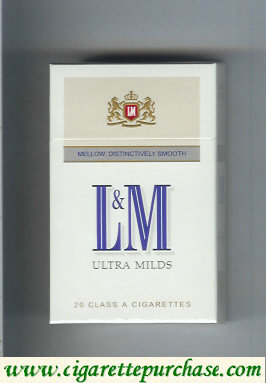 Discount L&M Mellow Distinctively Smooth Ultra Milds cigarettes hard box