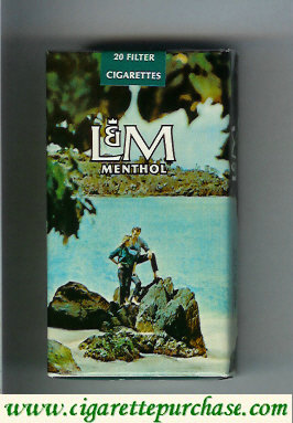 Discount L&M Menthol 20 Filter 100s cigarettes soft box