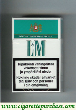 Discount L&M Menthol Distinctively Smooth Menthol Cool cigarettes hard box