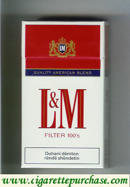 Discount L&M Quality American Blend Filter 100s cigarettes hard box