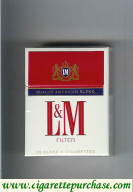 Discount L&M Quality American Blend Filter Short cigarettes hard box