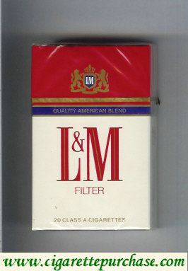 Discount L&M Quality American Blend Filter cigarettes hard box