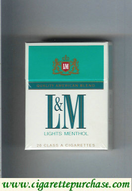 Discount L&M Quality American Blend Lights Menthol Short cigarettes hard box