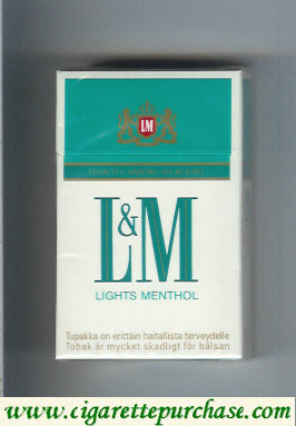 Discount L&M Quality American Blend Lights Menthol cigarettes hard box