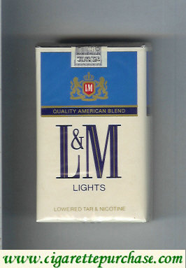 Discount L&M Quality American Blend Lights blue Lights cigarettes soft box