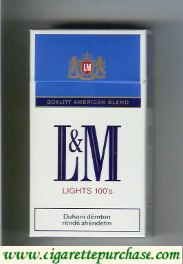Discount L&M Quality American Blend Lights red Lights 100s cigarettes hard box