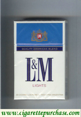 Discount L&M Quality American Blend Lights red Lights cigarettes hard box
