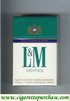 Discount L&M Quality American Blend Menthol cigarettes hard box