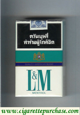 Discount L&M Quality American Blend Menthol cigarettes soft box